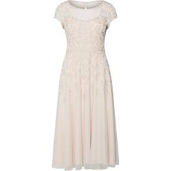 f1ef89de4f Sukienka Vera Mont beżowa z okrągłym dekoltem bez rękawów