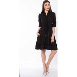 58bbd33a70 Sukienka Lanti na spotkanie biznesowe z długim rękawem midi