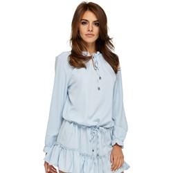 834cbc5dcd569c Sukienka niebieska Ooh La La mini z długimi rękawami dzienna