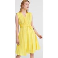674fe025c2 Sukienka żółta Reserved prosta na co dzień bez rękawów