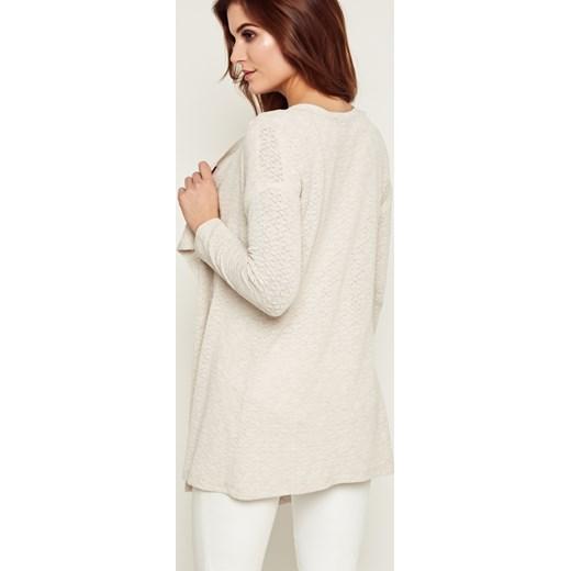 Sweter damski Kaskada Odzież Damska VM beżowy Swetry damskie