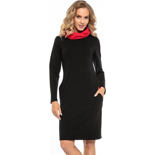 120f98ad27 Sukienka Tessita midi prosta z długimi rękawami w Domodi