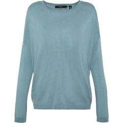 ed7d590e47 Niebieskie bluzki damskie vero moda okrągły