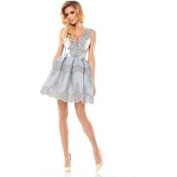 8550ccf204 Sukienka Bicotone gorsetowa elegancka bez rękawów na sylwestra