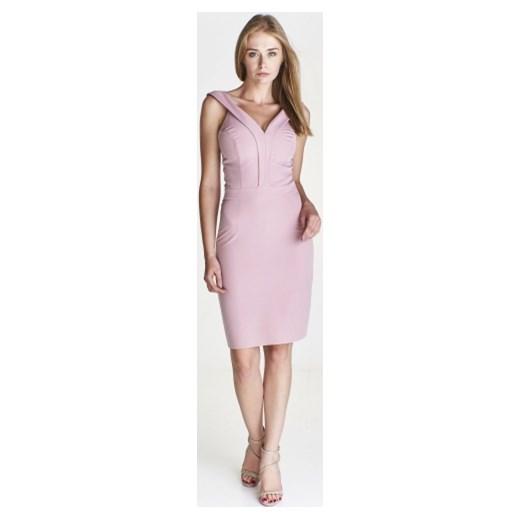 3b40fd5169 Sukienka Mally dopasowana różowa w Domodi