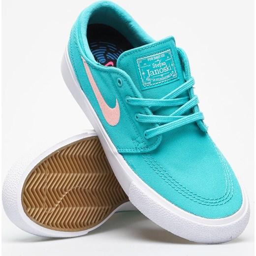 Trampki damskie Nike stefan janoski niebieskie płaskie