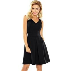 9b39d4ddb8 Czarna sukienka Numoco rozkloszowana elegancka bez rękawów na sylwestra