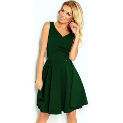a0576074ae Zielona sukienka Numoco mini rozkloszowana bez wzorów