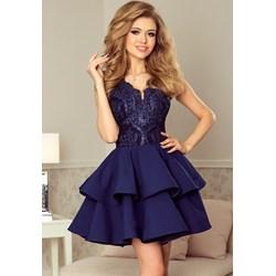 eb68729a37 Sukienka Numoco rozkloszowana niebieska na studniówkę