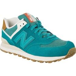 f2debcac0623a8 Buty sportowe damskie New Balance w stylu casual w młodzieżowym niebieskie  sznurowane z tworzywa sztucznego bez