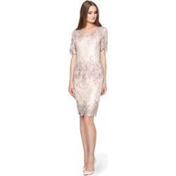 64291f8765 Sukienka Potis   Verso tkaninowa midi