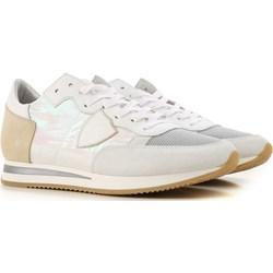 113e334e37e4 Buty sportowe damskie Philippe Model casualowe młodzieżowe białe sznurowane  na płaskiej podeszwie