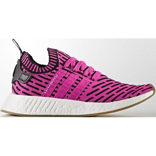 Różowe buty sportowe damskie Adidas Originals nmd wiązane płaskie
