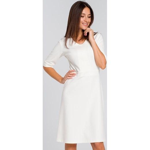 ffb51a9ffa Sukienka Style bez wzorów na spotkanie biznesowe prosta dzianinowa w ...
