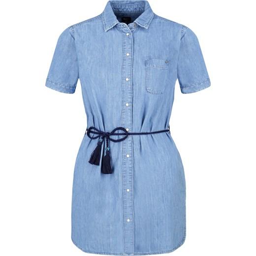 b332d0df51 Sukienka Pepe Jeans koszulowa niebieska na spacer z krótkim rękawem gładka  ...
