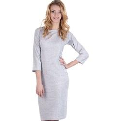 55b43ba2f3 Lamar sukienka mini na spotkanie biznesowe z okrągłym dekoltem