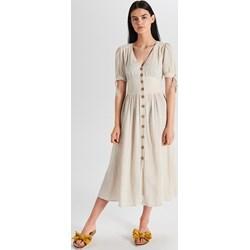 f8dc725f5a Sukienka Cropp z krótkim rękawem midi na co dzień szmizjerka casualowa