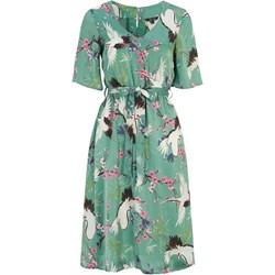 bb39f755f5 Sukienka Happy Holly zielona midi prosta na spacer