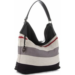 dda7be619360a Shopper bag Diana Co elegancka na ramię z breloczkiem