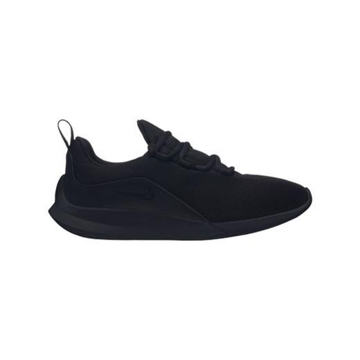 Buty sportowe damskie czarne Nike bez wzorów płaskie sznurowane