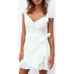 b4fe00cb33 Sukienka biała Ivet.pl casual na co dzień