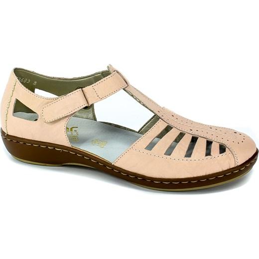 Sandały damskie Rieker płaskie casual