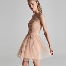 dc20511f18 Beżowa sukienka Sinsay karnawałowa gorsetowa bez rękawów