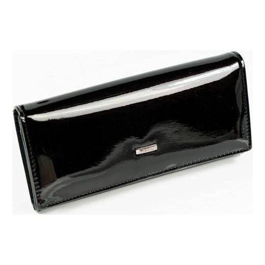3ab1419a8535c Skórzany portfel damski lakierowany czarny Loren 72401 Loren uniwersalny  Skorzana.com ...
