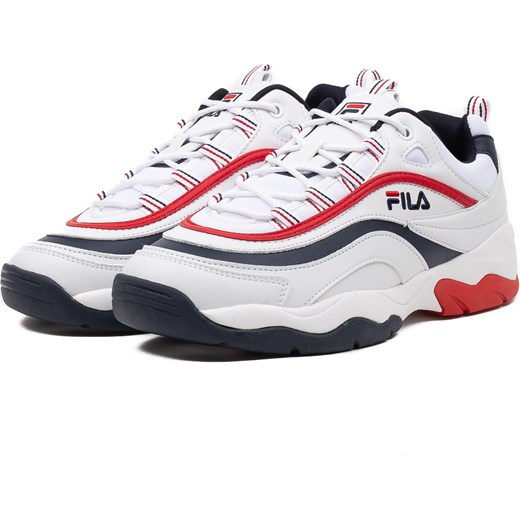 Buty sportowe męskie Fila wiązane białe