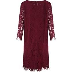 be585fa89c Sukienka czerwona z koronką z poliamidu