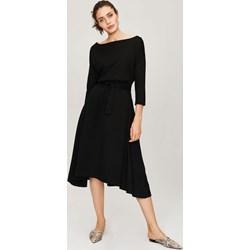 61ab9a760d Sukienka Femestage z bawełny maxi z długim rękawem asymetryczna do pracy  casual