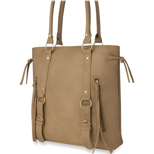 09d695b8d9cd8 Shopper bag bez dodatków duża matowa ze skóry ekologicznej w Domodi