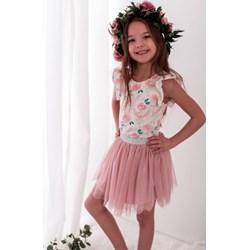 1567874fb5 Sukienka dziewczęca Lily Grey w kwiaty na wiosnę z elastanu