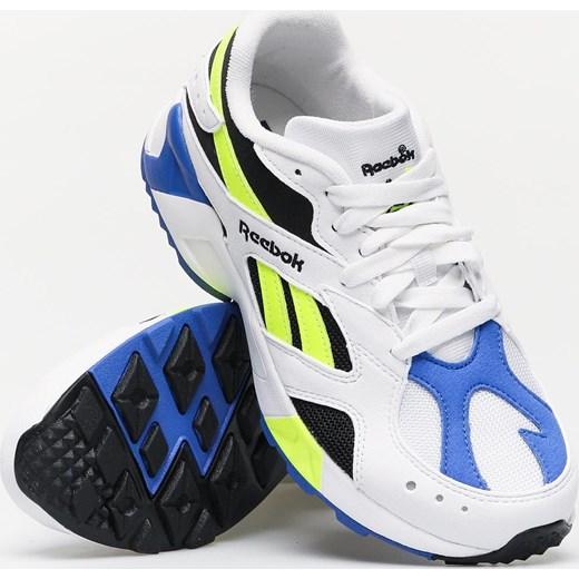 Buty sportowe damskie białe Reebok dla biegaczy wiązane ze