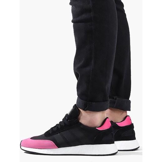 Buty sportowe damskie Adidas Originals sznurowane czarne na wiosnę bez wzorów na płaskiej podeszwie