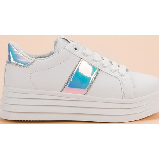 8fc307de Sneakersy damskie CzasNaButy sznurowane młodzieżowe na platformie ...