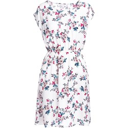 7a4d3e0876faf Sukienka wielokolorowa Born2be z okrągłym dekoltem z krótkimi rękawami mini