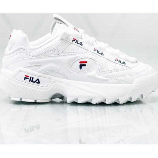Sneakersy damskie Fila gładkie białe wiosenne sportowe