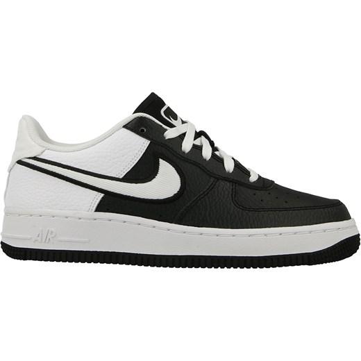 Buty sportowe damskie beżowe Nike do biegania air force gładkie płaskie sznurowane