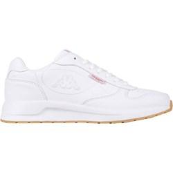 66238f7b Buty sportowe damskie Kappa białe sznurowane skórzane płaskie gładkie  wiosenne