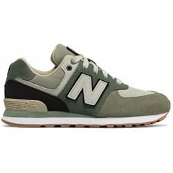 69d81f29 Buty sportowe damskie New Balance sznurowane zielone płaskie