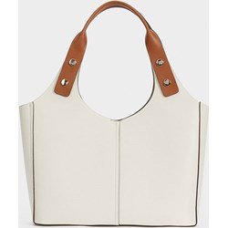 3733610f95fc9 Shopper bag Parfois na ramię ze skóry ekologicznej bez dodatków