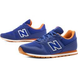 3faa74e2 Buty sportowe damskie New Balance do biegania niebieskie bez wzorów zamszowe
