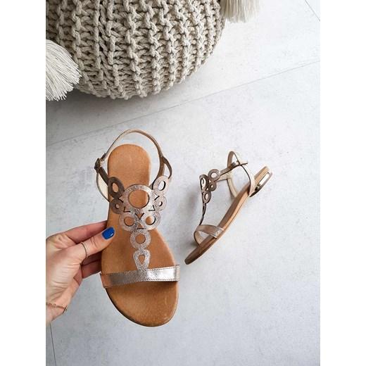 6e21997d305de ... bez wzorów z klamrą · Saway sandały damskie ze skóry z klamrą ...