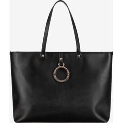 052b62d9821a2 Shopper bag Versace Jeans elegancka z poliestru matowa mieszcząca a6 na  ramię