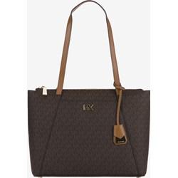 70d962640df69 Shopper bag Michael Kors duża z nadrukiem z breloczkiem