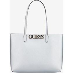 a1668d4e30222 Shopper bag Guess biała na ramię duża bez dodatków matowa
