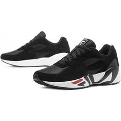 1b45ec36aea89 Buty sportowe męskie czarne Fila młodzieżowe sznurowane