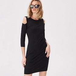 99fdfd9229 Sukienka Sinsay gładka dzienna z okrągłym dekoltem z długim rękawem