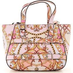f3c2a52a291e1 Shopper bag Guess na ramię bez dodatków z nadrukiem młodzieżowa